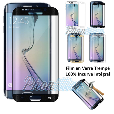 Film Protection Verre Trempe 100% Incurve Integrale pour Samsung Galaxy S7 Edge