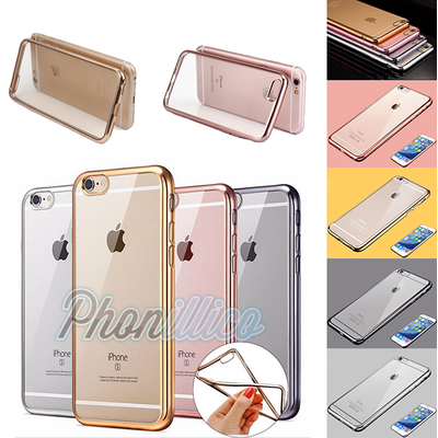 Coque Housse Etui Ultra Slim TPU Bumper Souple Plating pour Apple iPhone 6 / 6S
