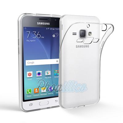 Coque Housse Etui Ultra Slim TPU Transparent pour Samsung Galaxy J1 2016