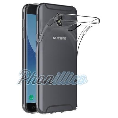 Coque Housse Etui Ultra Slim TPU Transparent pour Samsung Galaxy J7 2017