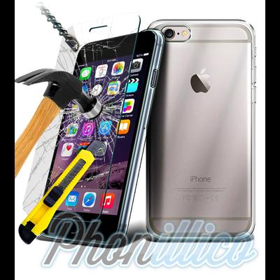 Coque TPU Ultra Slim + Film Protection Verre Trempe pour Apple iPhone 8 Plus