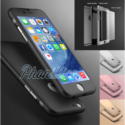 coque iphone 8 plus verre trempe