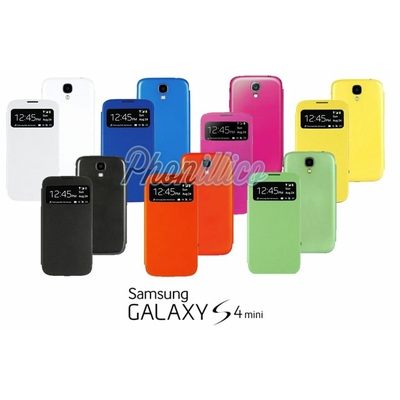 Coque Flip Cover S-View pour Samsung Galaxy S4 Mini