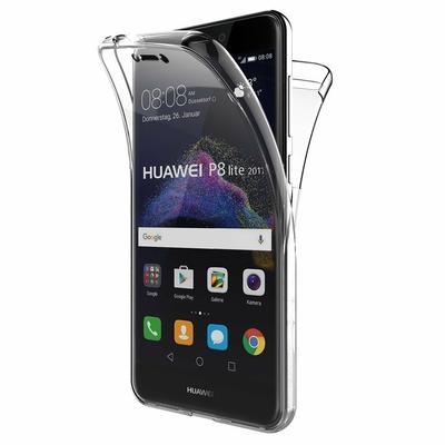 Coque Housse Etui TPU Silicone Intégrale Protection Transparent pour Huawei P8 LITE 2017
