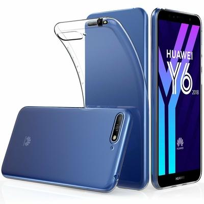 Coque Housse Etui Ultra Slim TPU Transparent pour Huawei Y6 2018