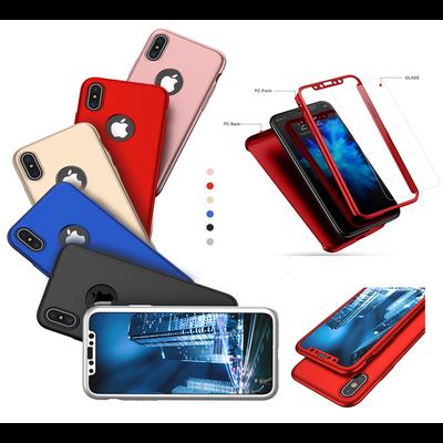 Coque Housse Etui Full 360 Hybride + Vitre Verre Trempé pour Apple iPhone XS MAX