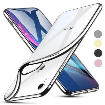 Coque Housse Etui Ultra Slim TPU Bumper Souple Plating pour Apple iPhone XR