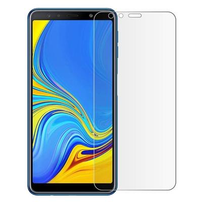 Film Protection Ecran Verre Trempe 100% Integrale Transparent pour Samsung Galaxy A7 2018