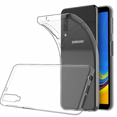 Coque Housse Etui Ultra Slim TPU Transparent pour Samsung Galaxy A7 2018