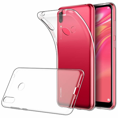 Coque Housse Etui Ultra Slim TPU Transparent pour Huawei Y7 PRIME 2019