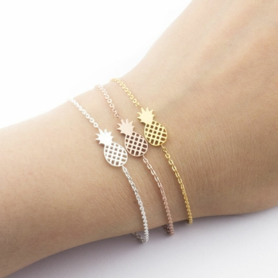 Bracelet Ananas Fantaisie Bijoux Mode Femme