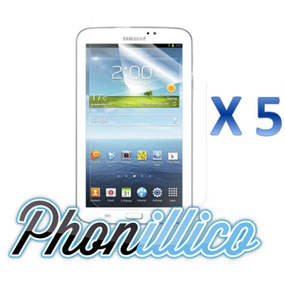 Lot 5 Films Protection Ecran pour Samsung Galaxy Tab 3 7.0
