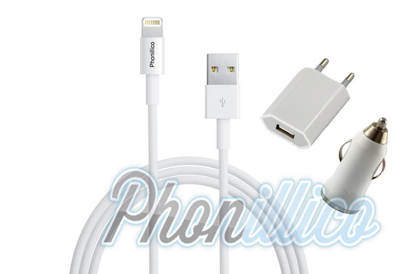 pack chargeur 3 en 1 pour apple iphone se apple iphone se phonillico. Black Bedroom Furniture Sets. Home Design Ideas