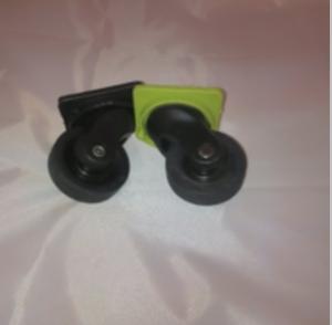 1 PAIRE DE ROULETTES DELSEY PPL ROSE (valise 4 roues)