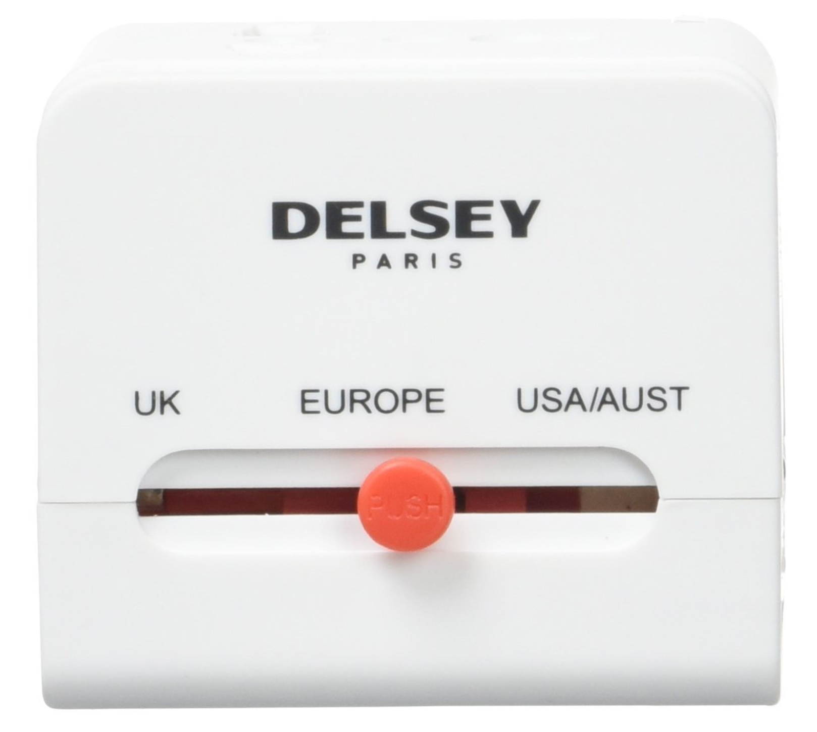 DELSEY PLUG IT ADAPTATEUR UNIVERSEL AVEC 2 PORTS USB(UK/EUROPE/USA-AUST)