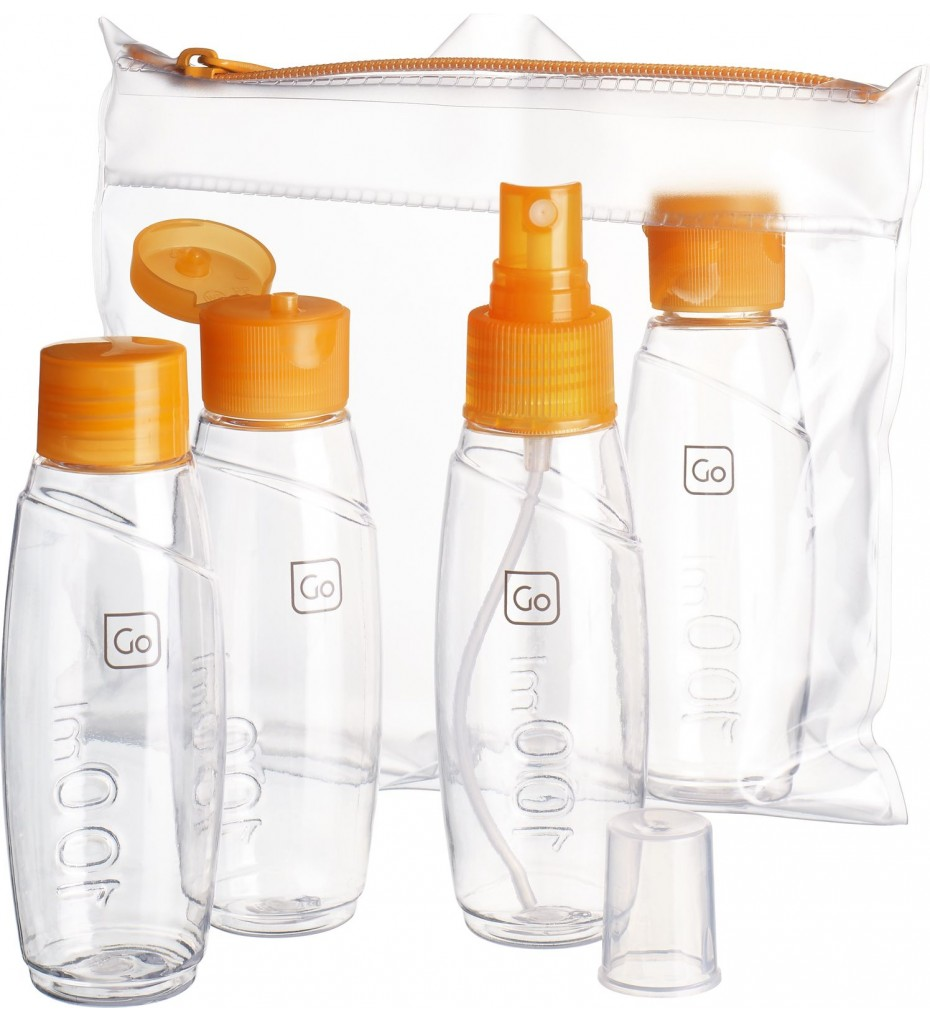 GO TRAVEL CABIN BOTTLE SET (ORANGE)