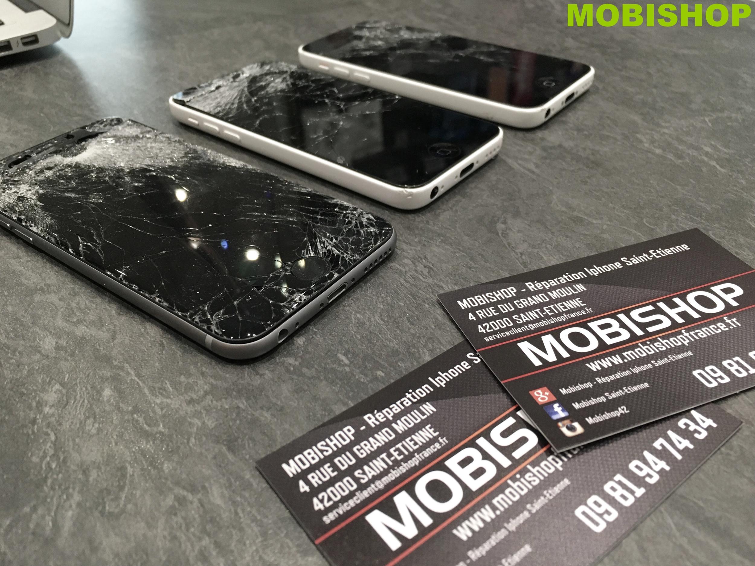 nous r parons votre cran d 39 iphone cass en seulement 15 minutes mobishop apple. Black Bedroom Furniture Sets. Home Design Ideas