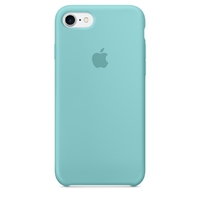 Coque Apple en silicone pour iPhone 8 / 7 - Sea Blue