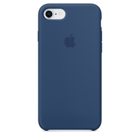 Coque Apple en silicone pour iPhone 8 / 7 - Bleu de cobalt
