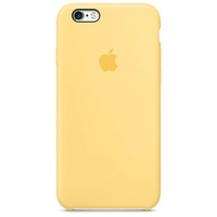 Coque Apple en silicone pour iPhone 6/6s - Jaune