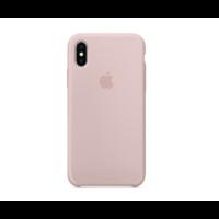 Coque Apple en silicone pour iPhone X - Rose des Sables