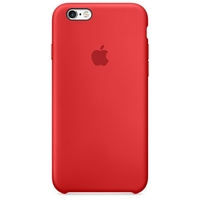 Coque Apple en silicone pour iPhone 6 6S - Rouge