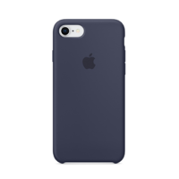 Coque Apple en silicone pour iPhone 8 / 7 - Midnight