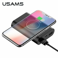 Powerbank USAMS WISH Qi 8000mAh noir