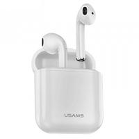 USAMS - Écouteurs Stereo sans fil (Bluetooth 5.0) - Blanc
