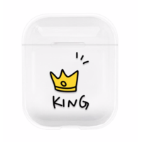 "Coque AirPods ""King"""