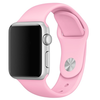 Bracelet en silicone rose pour Apple Watch 42/44mm