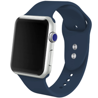Bracelet en silicone bleu pour Apple Watch 42/44mm