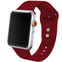 Bracelet en silicone rouge pour Apple Watch 42/44mm