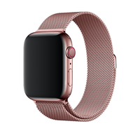 Bracelet en metal rose pour Apple Watch 42/44mm