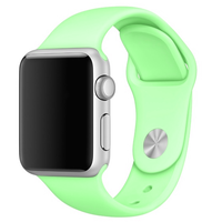 Bracelet en silicone vert pour Apple Watch 42/44mm