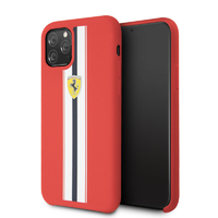 Coque Ferrari silicone rouge iPhone 11 Pro