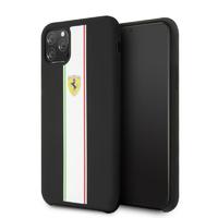Coque Ferrari silicone noir iPhone 11 Pro