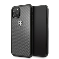 Coque Ferrari en fibre de carbone iPhone 11 Pro