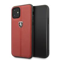 Coque Ferrari cuir rouge iPhone 11