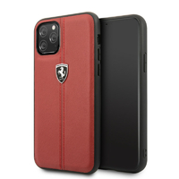 Coque Ferrari cuir rouge iPhone 11 Pro