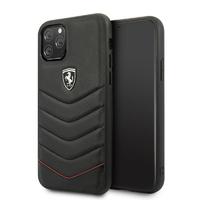 Coque Ferrari cuir noir iPhone 11 Pro