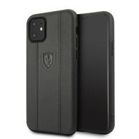 Coque Ferrari cuir noir iPhone 11