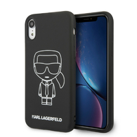 Coque Karl Lagerfeld silicone noir iPhone XR