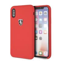 Coque Ferrari silicone rouge iPhone X