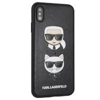 Coque Karl Lagerfeld cuir noir iPhone X XS