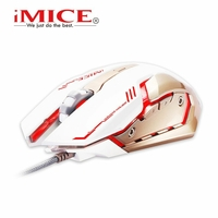 Souris IMICE V8 Souris Gaming blanche