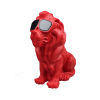 Enceinte Bluetooth Lion rouge