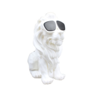 Enceinte Bluetooth Lion blanche