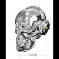 Enceinte bluetooth Skullhead argent