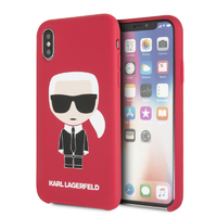 Coque Karl Lagerfeld silicone rouge iPhone X XS